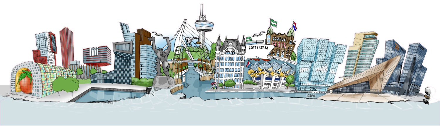 Skyline Rotterdam designed by City Art ArtXtrA
